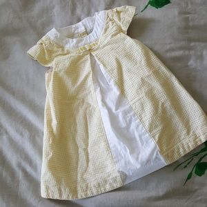 Janie and Jack yellow dress size 6 to 12 months
